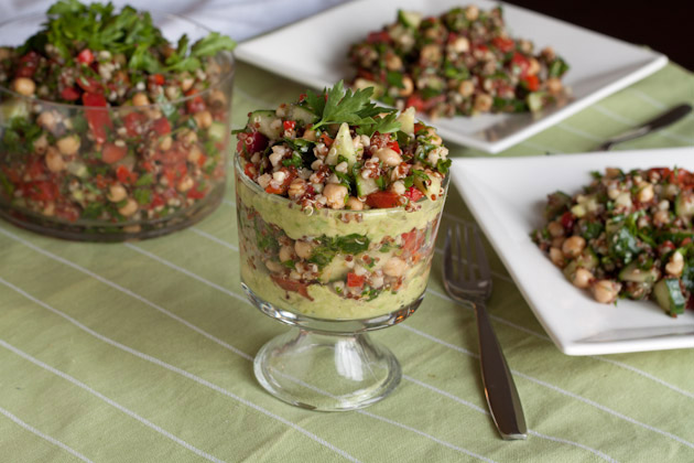 Light Quinoa and Avocado Tabbouleh Verrines