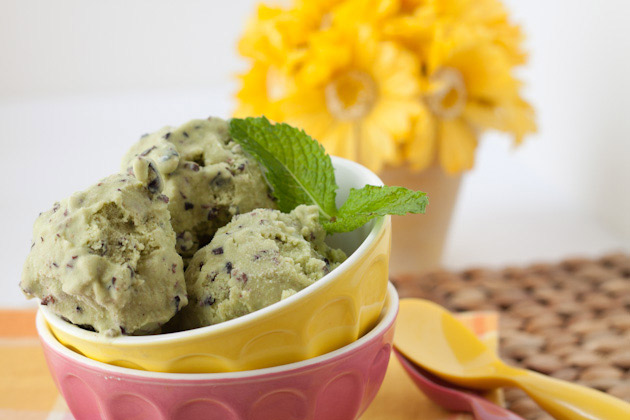 Vegan Peppermint Chocolate Chip Ice Cream | Healthful Pursuit