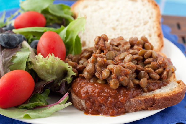 Stampede Barbecue Lentil Sandwich | Healthful Pursuit
