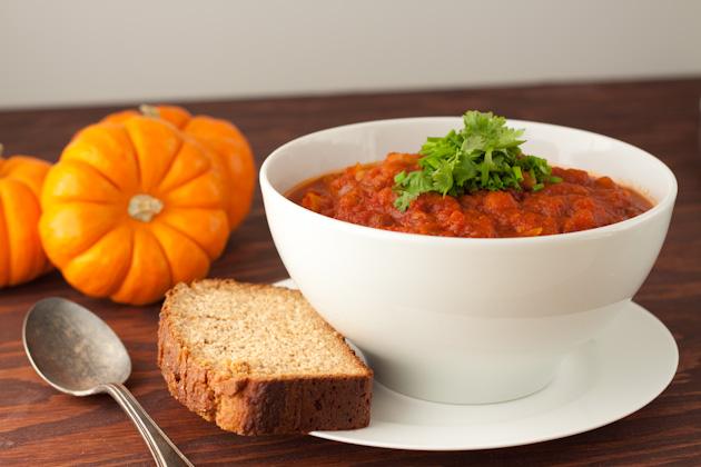 Crockpot Turkey & White Bean Pumpkin Chili (4)