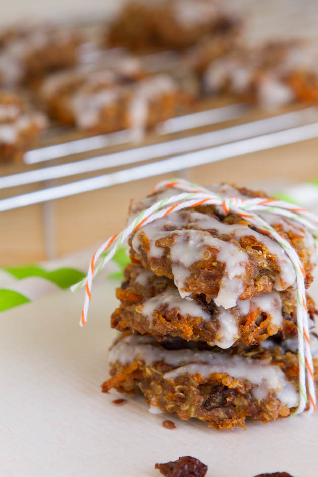 Quinoa Carrot Cake Breakfast Cookies | Healthful Pursuit