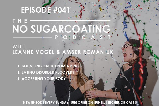 Bouncing Back from a Binge, Eating Disorder Recovery, and Accepting Your Body #nosguarcoatingpodcast #keto