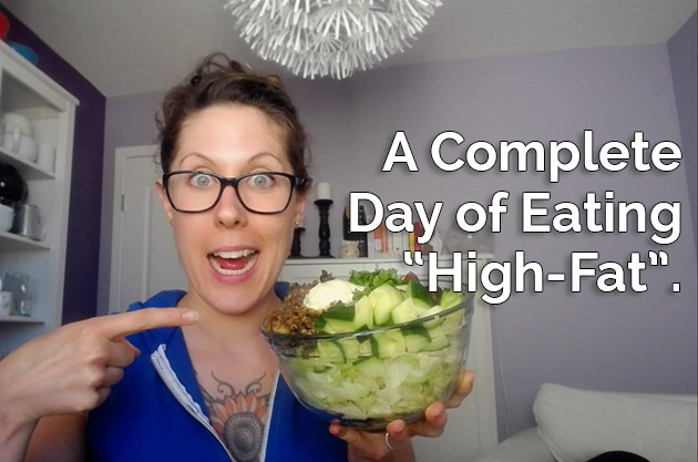 """A Complete Day of Eating """"High-Fat"""" #keto #hflc #lchf #lowcarb #paleo"""