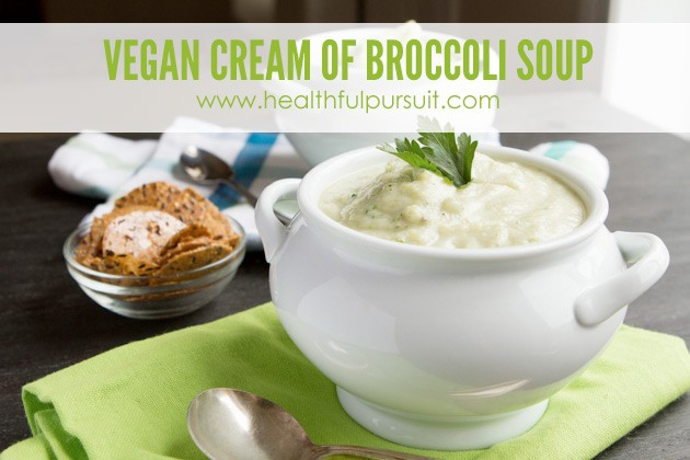Vegan Cream of Broccoli Soup #keto #lowcarb #paleo
