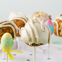Thumbnail image for Healthy Easter Desserts: Carrot Cake Pops + Hazelnut Truffles