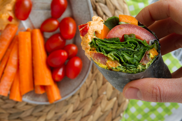 Cheese and Veggie Wrap (5)
