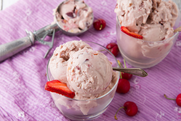 Cherry Chunk Protein Ice Cream from Healthful Pursuit