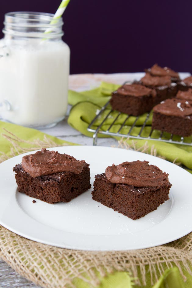 Freedom Brownies with Fudge Frosting