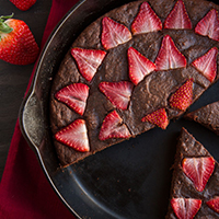 Thumbnail image for No-Fuss Skillet Chocolate Cake (Gluten-free & Paleo)