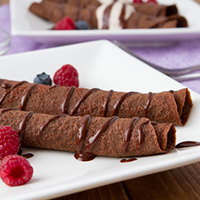 Food re-networked series: Coconut Flour Chocolate Crepes