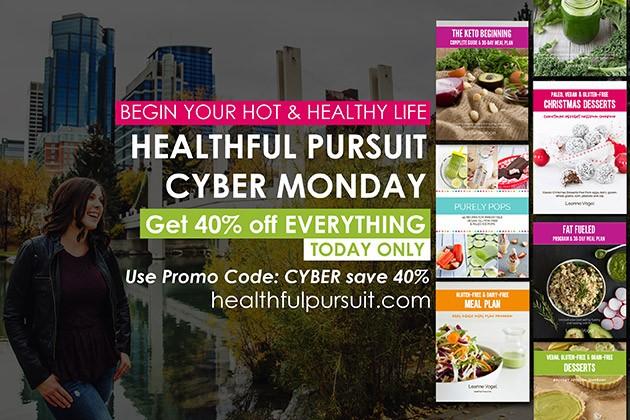 Save 40% on Everything Healthful Pursuit #cybermonday #savings #health #keto #lowcarb