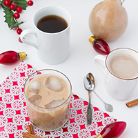 Vegan Eggnog Coffee Creamer + Light Dairy-free Eggnog