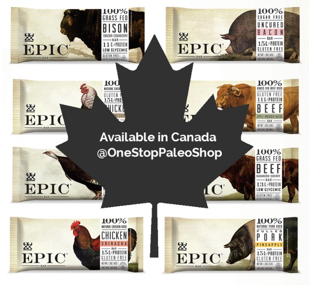 Get EPIC bars in Canada at One Stop Paleo Shop