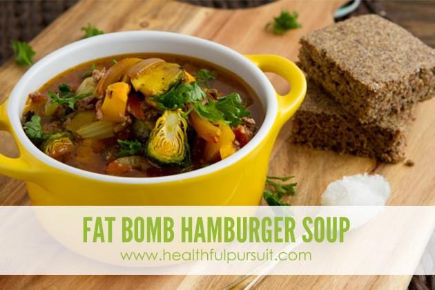 Fat Bomb Hamburger Soup #keto #lowcarb #paleo