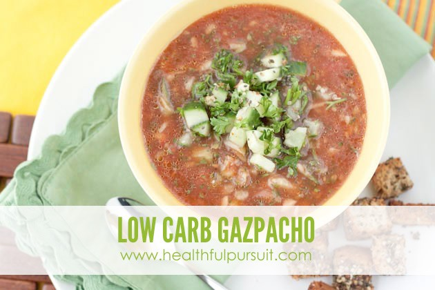 Low Carb Gazpacho #keto #lowcarb #paleo
