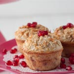 Grain-free Pomegranate Muffins