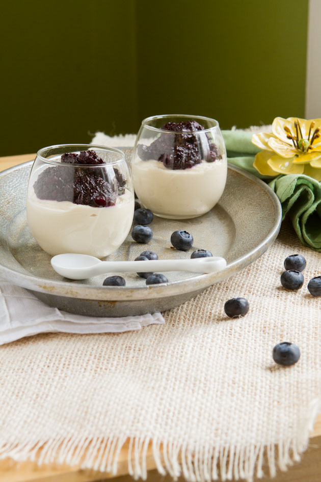 Vegan Blueberry Chia Cheesecake Cups