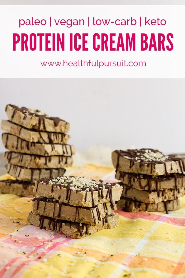 Matcha Protein Ice Cream Bars #vegan #dairyfree #eggfree #sugarfree #glutenfree #lowcarb #keto