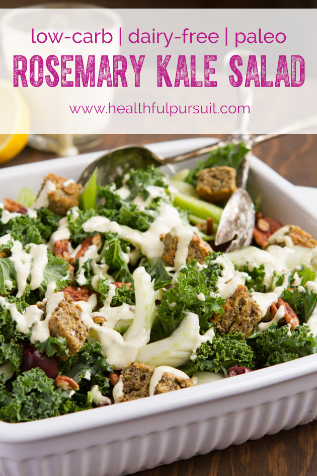 eating salad is pointless unless you do this + recipe for kale salad with creamy rosemary dressing
