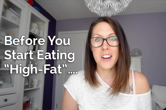 """Do This Before You Start Eating """"High-Fat"""" #keto #lowcarb #hflc #lchf"""
