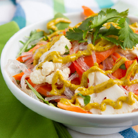 Low-Carb Noodle Bowls with Curry Sauce #lowcarb #keto #hflc #lchf #paleo #primal #glutenfree