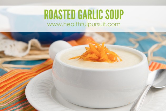 Roasted Garlic Soup #keto #lowcarb #paleo