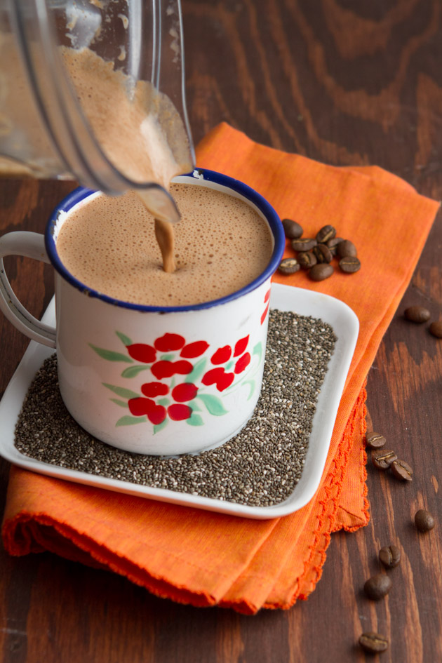 Rocket Fuel Cafe Mocha with Chia Seeds #lowcarb #paleo #keto