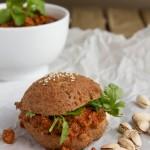 Sloppy Bombay Joe in Low-Carb Hamburger Buns #grainfree #paleo #lowcarb #keto