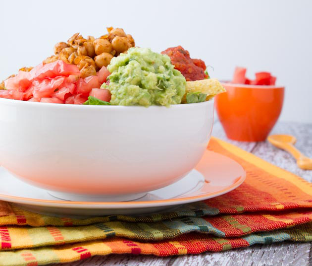 Ultra-Easy Vegan Taco Salad #vegan #glutenfree