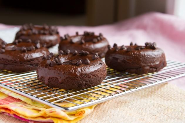 Flourless Triple Chocolate Donuts #sugarfree #nutfree #dairyfree #lowcarb #keto