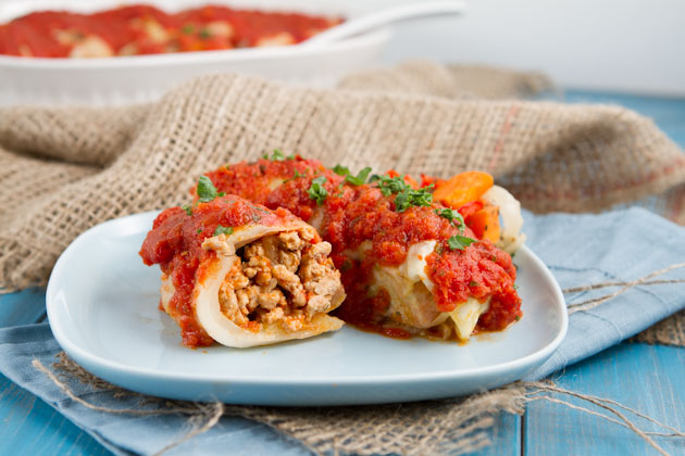 Turkey & Roasted Veg Cabbage Rolls (10)