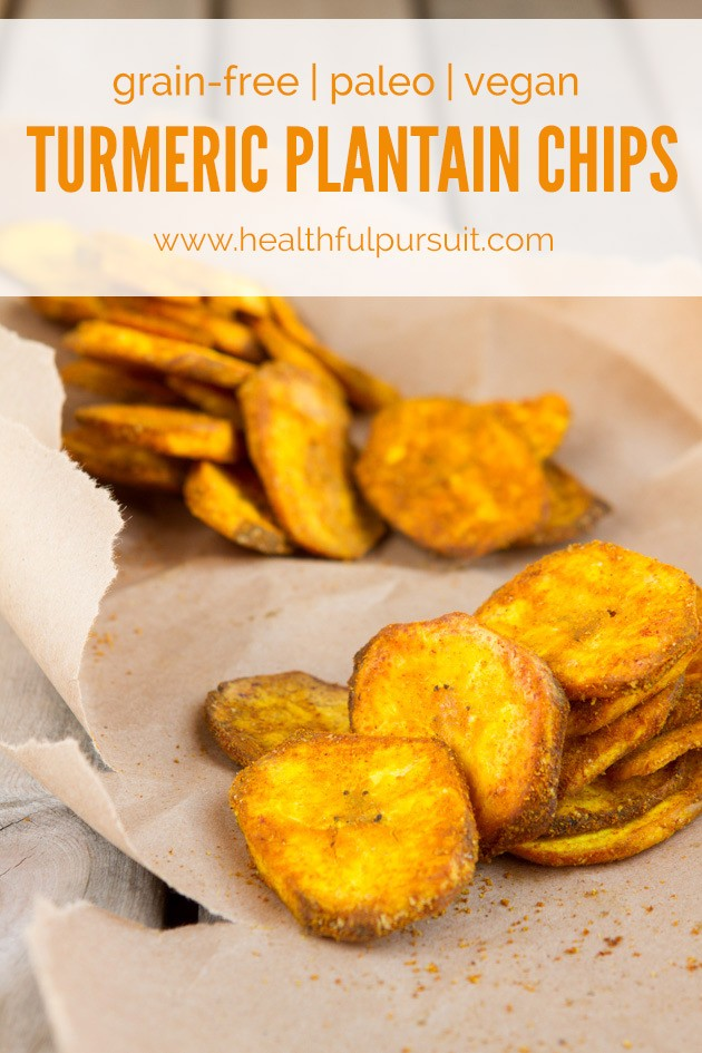 Turmeric Plantain Chips #vegan #paleo #grainfree
