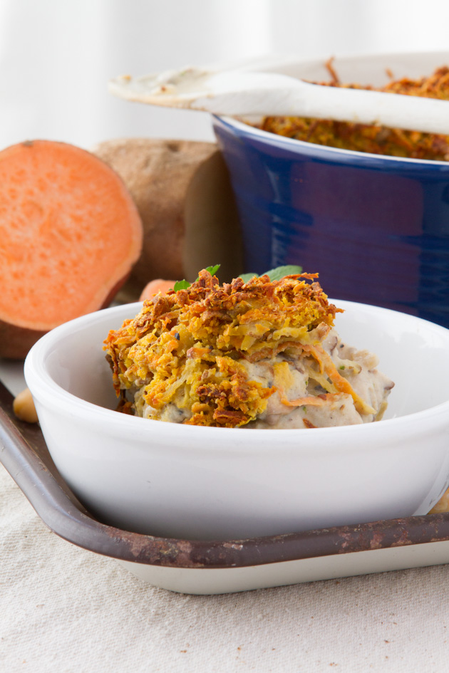 Vegan Creamy Broccoli and Chick-un Casserole