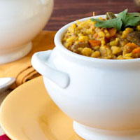 South Indian Rice with Lentils (Bisi Bele Bhath)