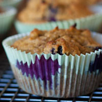Blueberry Fiber Muffins + Extreme Green Salad Dressing