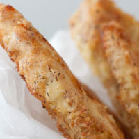 """Breaded"" Chicken Strips with Apricot Dijon Dipping Sauce"