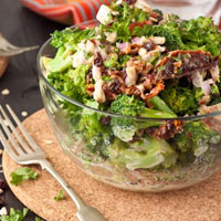 Salad Challenge: Sweet + Creamy Broccoli Salad