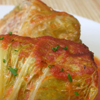 Bison and Elk Cabbage Rolls