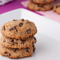 Gluten-free + Vegan Chewy Carob Chip Cookies