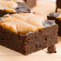 Oil-free Carob Swirl Brownies