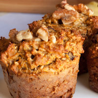 Carrot Raisin Nut Muffins