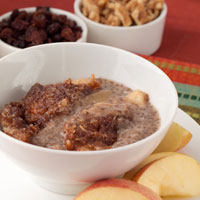 Crock-Pot Apple Crumble Breakfast Pudding