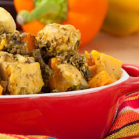 Crock-Pot Chicken and Rutabaga Greens Stew