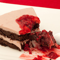 Lovers Chocolate Raspberry Quinoa Cake