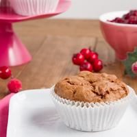 Cranberry Sauce Muffins (Vegan + Grain-free)