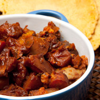 Cranberry Barbecue Beef Oven Stew + Socca