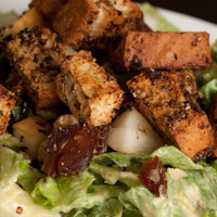 Vegan Creamy Honey Dijon Salad + Omega Croutons