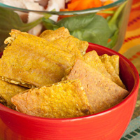 Coconut Curry Socca Crackers