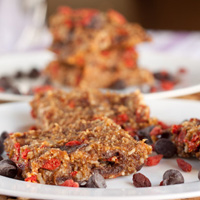 Almond Buckwheat Goji Raw Bars