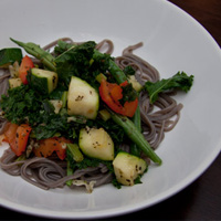 Buckwheat and Greens Noodles